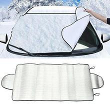 150X70 см автомобильный чехол на лобовое стекло, автомобильный солнцезащитный козырек, защита от солнца, переднее и заднее стекло, водонепроницаемый защитный чехол, снежный лед, защита от пыли, защита от заморозки