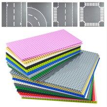 Piastre di Base stradali classiche mattoni di plastica piastre di Base city street compatibili con lego dimensioni costruzione di blocchi