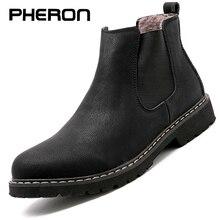 Chelsea Stiefel Männer Winter Schuhe Schwarz Split Leder Stiefel Herren Schuhe Warm Plüsch Pelz Winter Stiefel Für Männer Zapatos Hombre