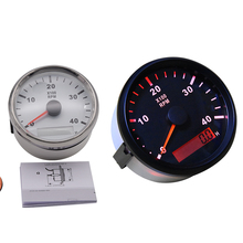Tachometer Boat Marine Speed-0-4000 RPM Backlight 85MM Waterproof with LCD 4KRPM Red