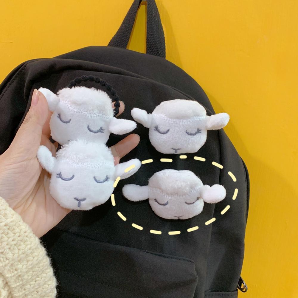 Корейская Мягкая Милая Белая булавка в виде овечки, плюшевая 3D сумка в виде животного, кукла, брошь для одежды для женщин, брошь для девочек, подарки|Броши|   | АлиЭкспресс