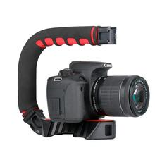 DishyKooker Ulanzi Handheld Pro Video Stabilizer U Shape Rig Triple Hot Shoe Handle Grip for Gopro 7 6