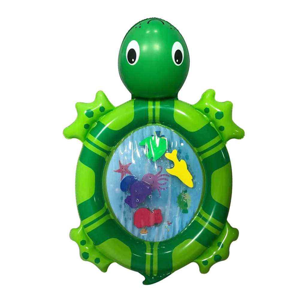 Large Turtle Shaped Water Pad Game Entertainment Development Toddlers Inflatable Portable Storage Water Baby Toy Play Mat