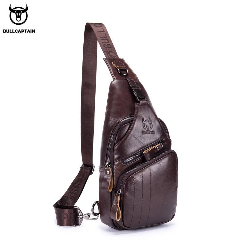 BULLCAPTAIN Men Stylish Genuine Leather Shoulder Bag