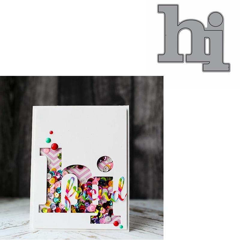 Hi Word Die Cuts For Card Making Hi Word Dies Scrapbooking Metal Cutting Dies New 2019