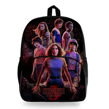 New Stranger Things Print School Bags Students Boys Girls Rucksack Fashion Backpack Travel Hiking
