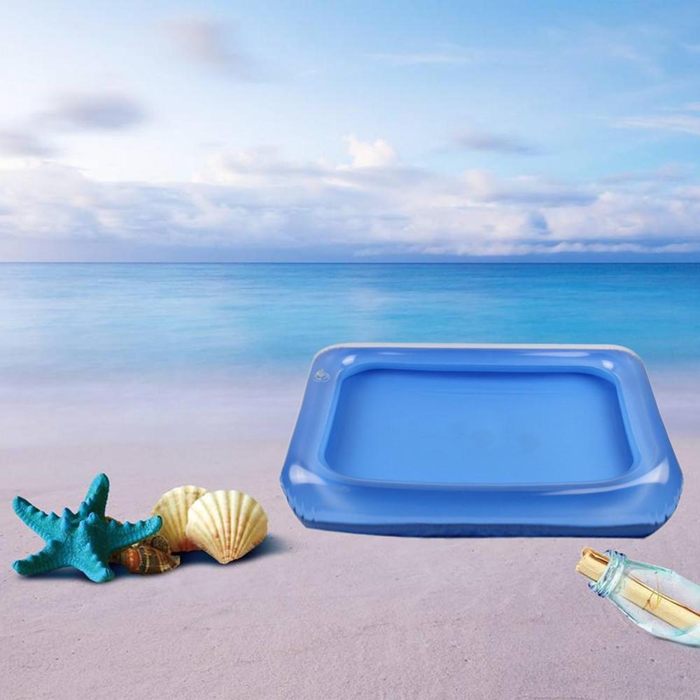 Kids Portable Inflatable Sandbox Moldable Beach Sand Clay Mud Play Tray Playing Sand Tool Accessories Toy Random Color