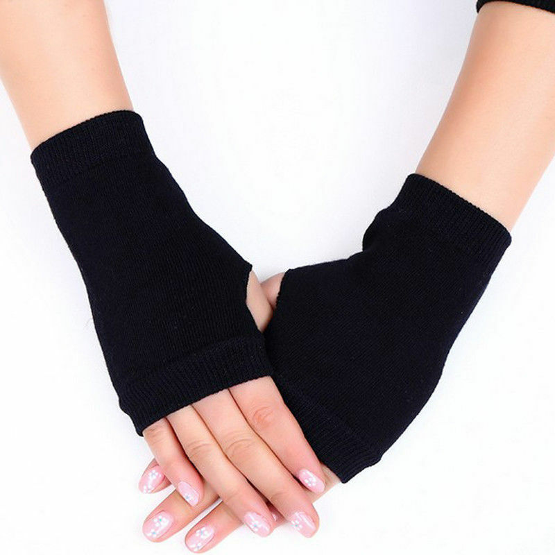 2019 New Female Stylish Hand Warmer Winter Gloves Women Arm Crochet Knitting Cotton Mitten Warm Fingerless Gloves