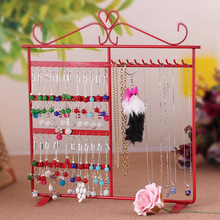 Earring Necklace Rack Jewelry Storage Rack 48 Hole 10 Hook Display Stand Makeup