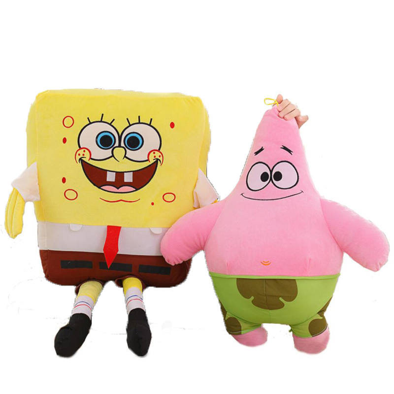 40-100cm Cartoon Spongebob Patrick Star Plush Toys  Soft Stuffed Animals dolls Kids toy Pillow Sofa Backrest | Dolls & Stuffed Toys