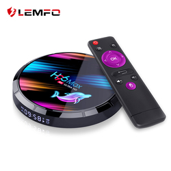 LEMFO H96 Max X3 Smart TV Box Android 9.0 Amlogic S905X3 4GB 128GB Support 8K Youtube Google Play décodeur