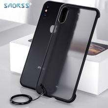 SMORSS Ultra-thin Borderless Phone Case For iPhone X XS Max 11 pro Clear Back Cover XR PRO MAX