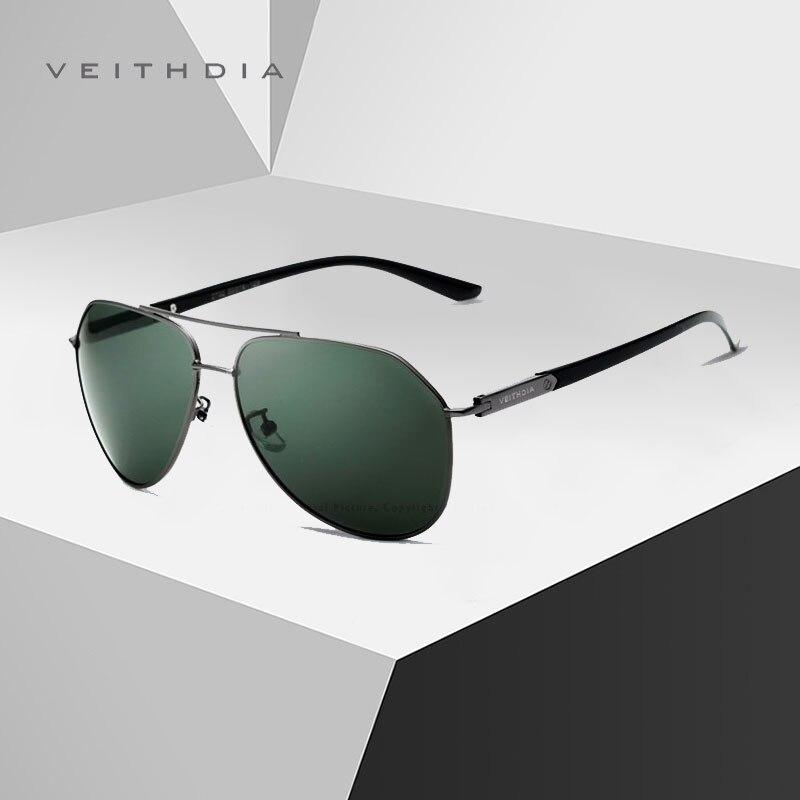 Мужские и женские солнцезащитные очки VEITHDIA, поляризационные солнцезащитные очки из нержавеющей стали с зеркальным покрытием UV400, модель 2020