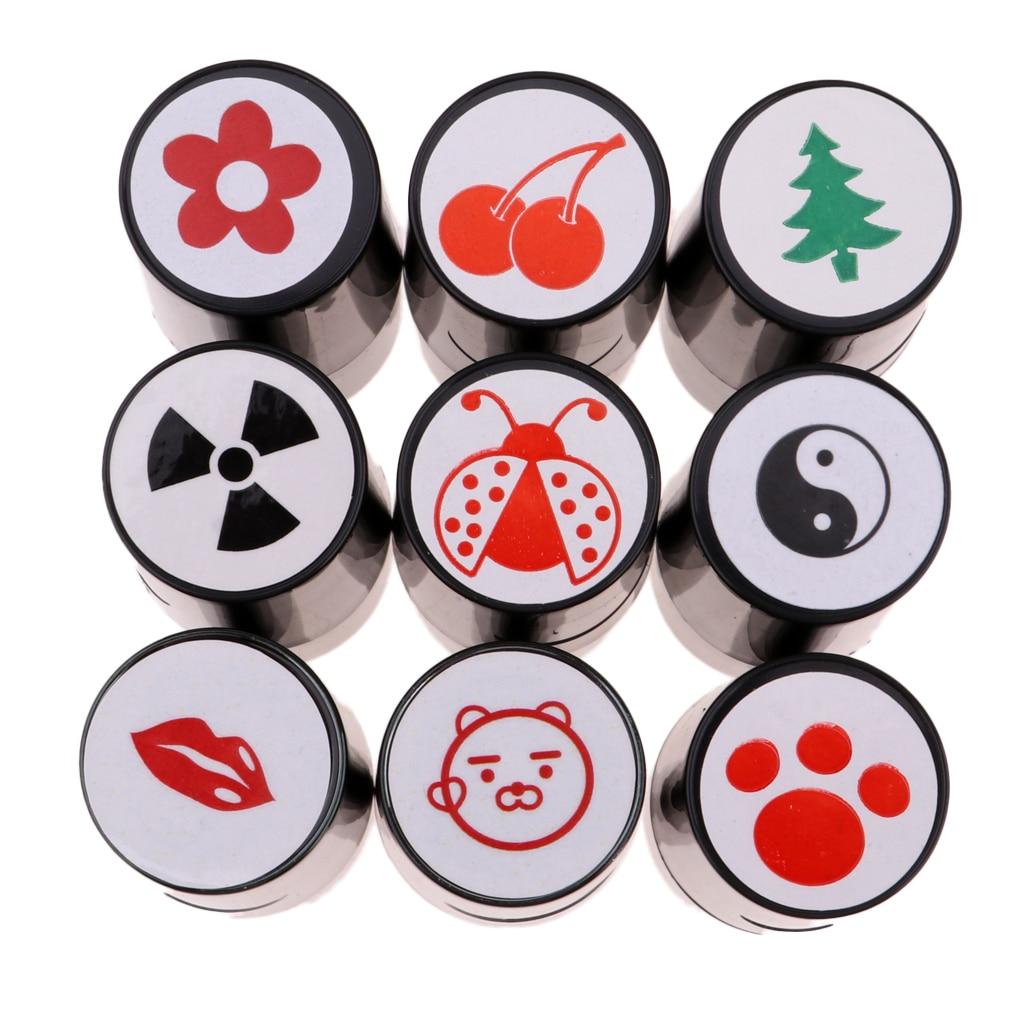 2Pcs Quick-dry Long Lasting Bright Sun & Flower Shape Print Golf Ball Stamper Marker Seal Golf Ball Impression Golf Ball Symbol