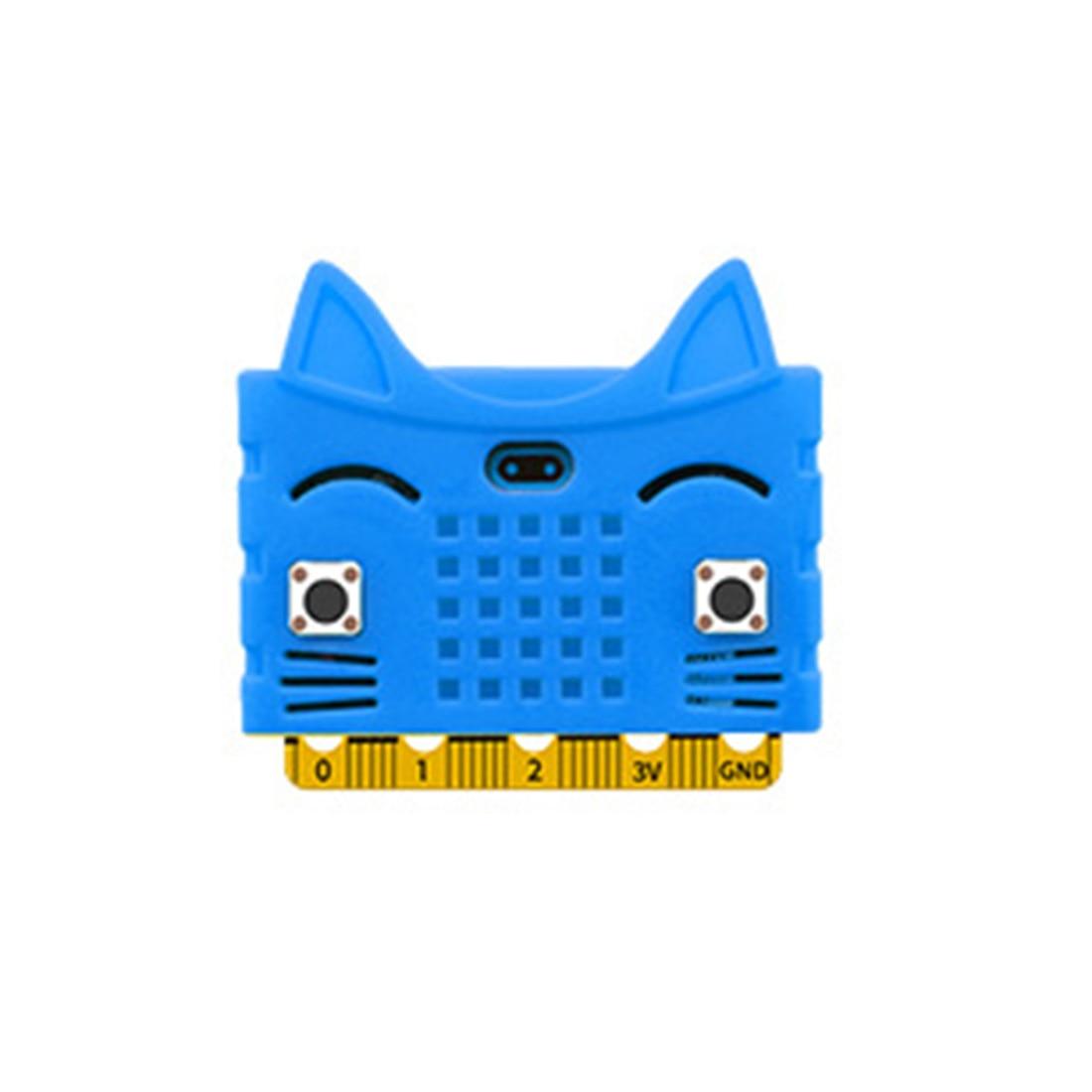 Экологичное уплотнение/тигр/в форме кота силиконовый защитный корпус Крышка корпуса для Micro: Плата расширения бита Bue/красный/оранжевый - Цвет: 9