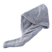 Soft Shower Hair Drying Wrap Women Towel Quick Dry Hat Cap Bathroom Bath Accessories