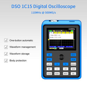 DSO 1C15 New Digital Oscilloscope 110MHz Analog Bandwidth 500MSa/s Sampling Rate Support Waveform Storage Handheld Oscilloscopes
