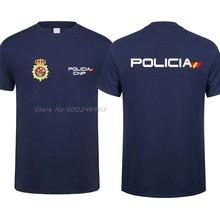 Camisa da polícia nacional de espanha t homem legal espana policia cnp uip upr anti motim força camiseta masculina de algodão tees harajuku streetwear