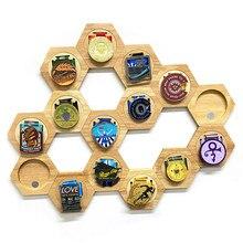 Medailles Houten Hexagon Opslag Plank Woningen Decoratieve Tool Rekken Medaille Album Munt Gevallen Voor Huishoudens Slaapkamer Decoratie