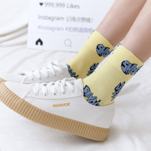 New Chromatic womens socks Spring and Autumn personality trend cute letters high quality cotton