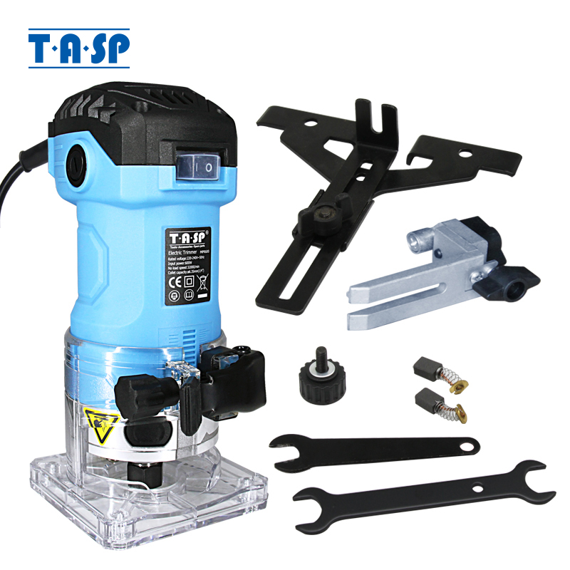 TASP 600W Electric Laminate Edge Trimmer 6 35mm Collet Router Wood Milling Machine Carpentry Woodworking Carving Power Tools