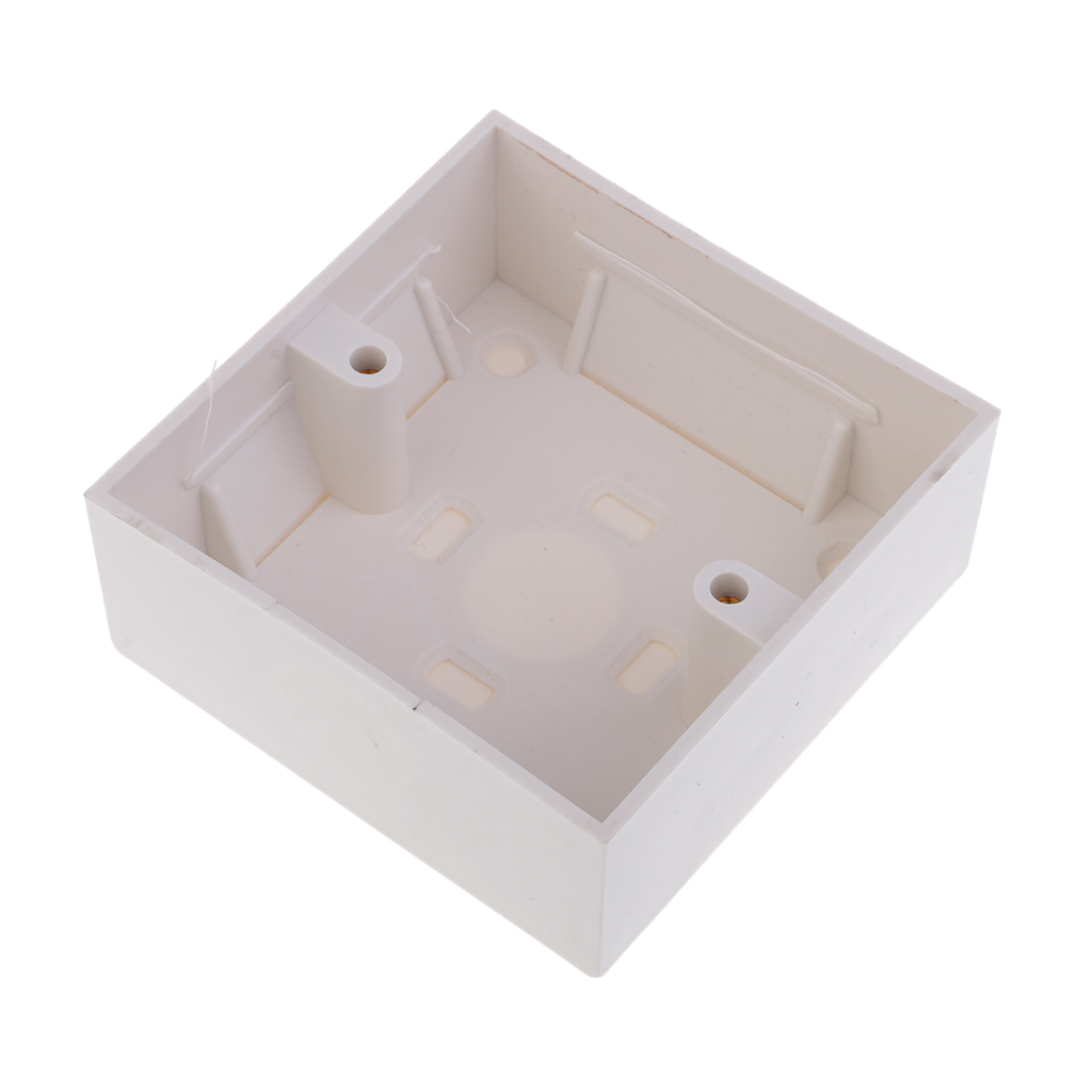 New Hot Single Gang Socket Back Box For RJ45 Network Faceplate LAN Patch Wall Mount Wall Switch Socket