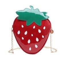 Women Chain Purse Shoulder Bag 2019 Gift Strawberry Design Leather Mini Messenger Luxury Handbags Bags Designer Girls