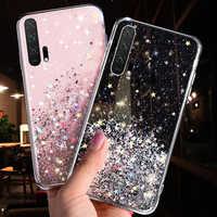 LOVECOM, lujosa funda para teléfono con estrellas de purpurina gradiente para Huawei P40, P20, P30 Pro Lite Mate 20 Pro, funda trasera del teléfono suave transparente