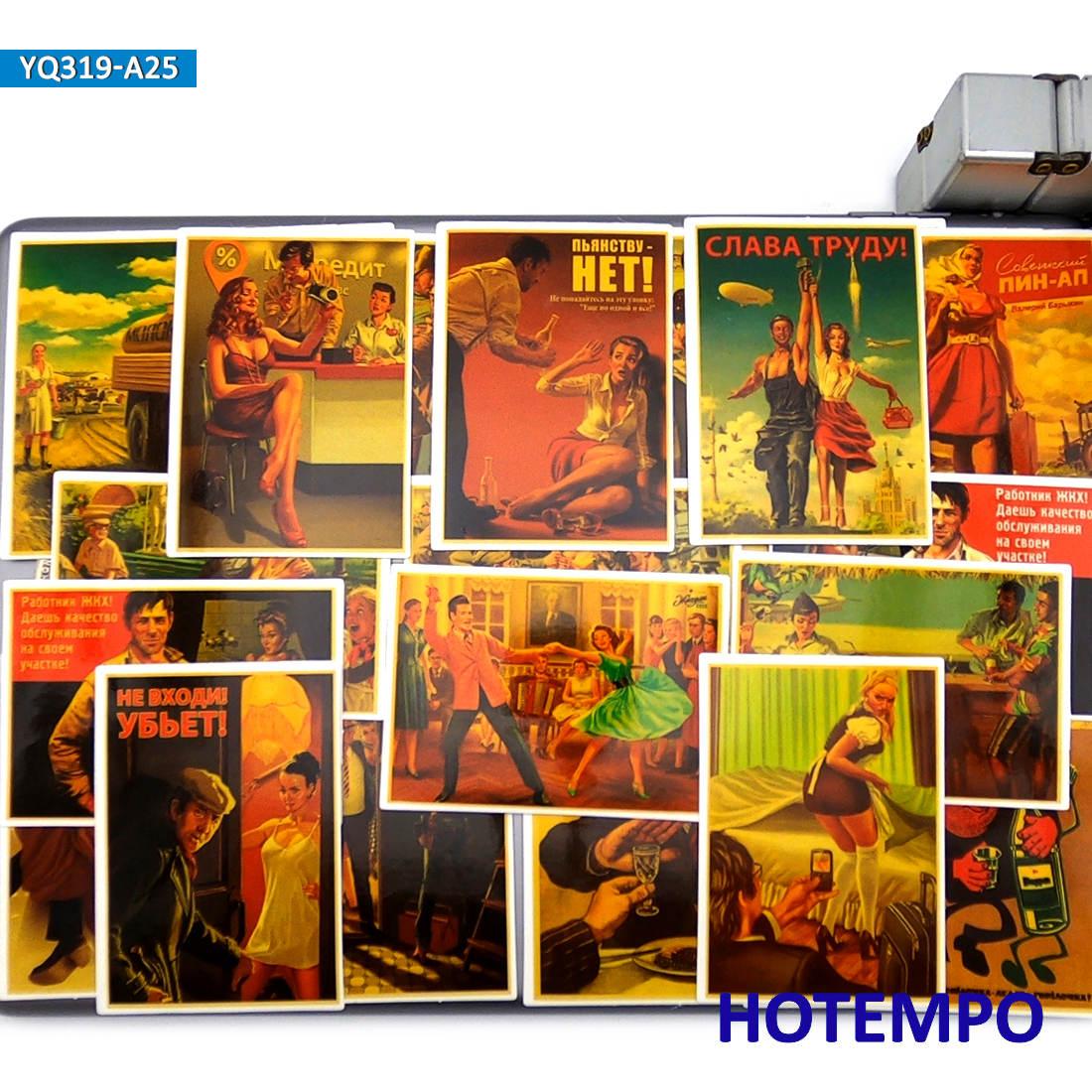 25 шт., Сталин, СССР, CCCP, модные ретро постеры, стильные игрушки, наклейки на мобильный телефон, ноутбук, багаж, скейтборд, велосипед, автомобиль, художественная наклейка|Наклейки|   | АлиЭкспресс