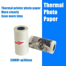 Sticker Paper-Receipt Photo-Paper POOOLI Label for 58mm Peripage P6 Self-Adhesive HD