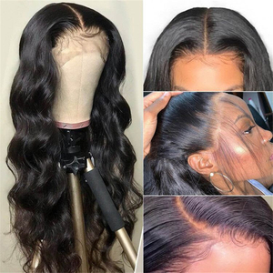 Image 4 - 브라질 바디 웨이브 레이스 프런트 인간의 머리가 발 13x4 13x6 레이스 정면 가발 Preplucked 헤어 라인 레이스 클로저가 발 인간의 머리가 발