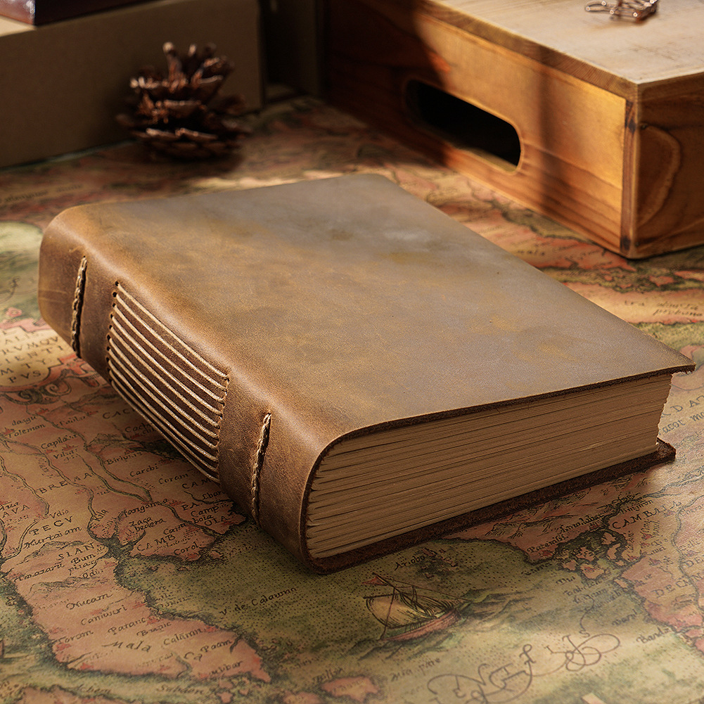 High Quality Vintage Kraft Hand Made Sketchbook 190mm*140mm 400P Thick Dictionary Notebook Gift Free Shipping