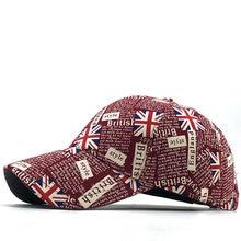 United Kingdom Flag Washed Cotton Baseball Cap Unisex Letters Graffiti Baseball Cap For Men&Women Casual Adjustable Outdoor Hats