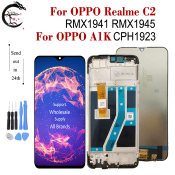 """6.1"""" LCD With Frame For OPPO Realme C2 RMX1941 RMX1945 A1k CPH1923 LCD Full Display Screen Touch Sensor Digitizer Assembly AAAAA 1"""