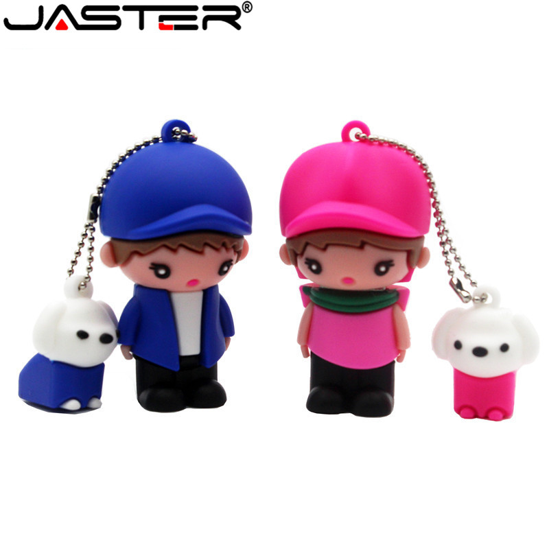 JASTER New Style USB Flash Drives 64GB 16GB 32GB Pen Drives Flash Card External Storage Cartoon Usb Flash Drive The Best Gift