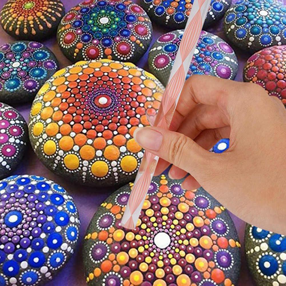 25 個曼荼羅点在ツール岩絵キットドットネイルアートペンペイントステンシル