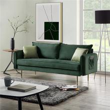 Nordic бархат 3 местный диван для Гостиная мебель дома удобный