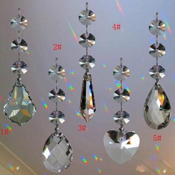 Wystrój ogrodu 1PC Suncatcher wiszący kryształowy Feng Shui tęczowy pryzmat musujące prezenty świąteczne nowość tanie i dobre opinie CN (pochodzenie) Kryształowa gleba