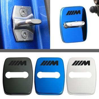 4pcs stainless steel Car Door lock cover sticker For bmw M Sticker X1 X3 X4 X5 X6 X7 e46 e90 f20 e60 e39 f10 f30 Car accessories kalaisike custom car floor mats for bmw all model x3 x1 x4 x5 x6 z4 525 520 f30 f10 e46 e90 e60 e39 e84 e83 car styling