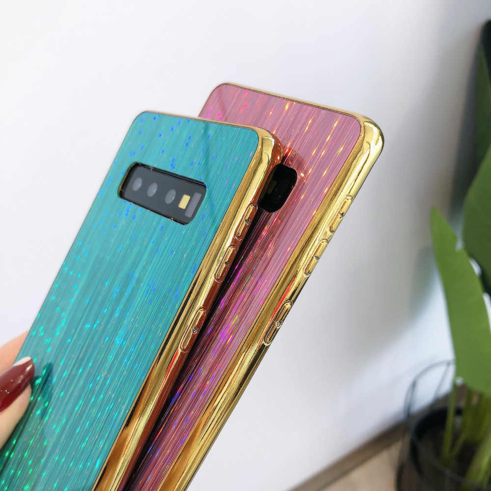 Heyytle メッキカラフルな S10 S9 S8 プラス注 9 8 10 プロ星空カバーのためサムスン A70 A50 A20 A8 ケース