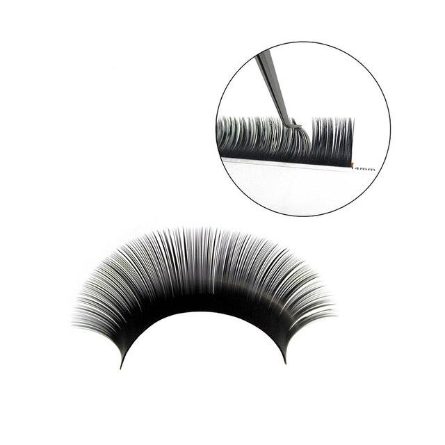 Russia 3D Individual Eyelashes Handmade Eyelash Extension Mink Eyelashes Synthetic Hair Silk Volume False Eyelashes 2