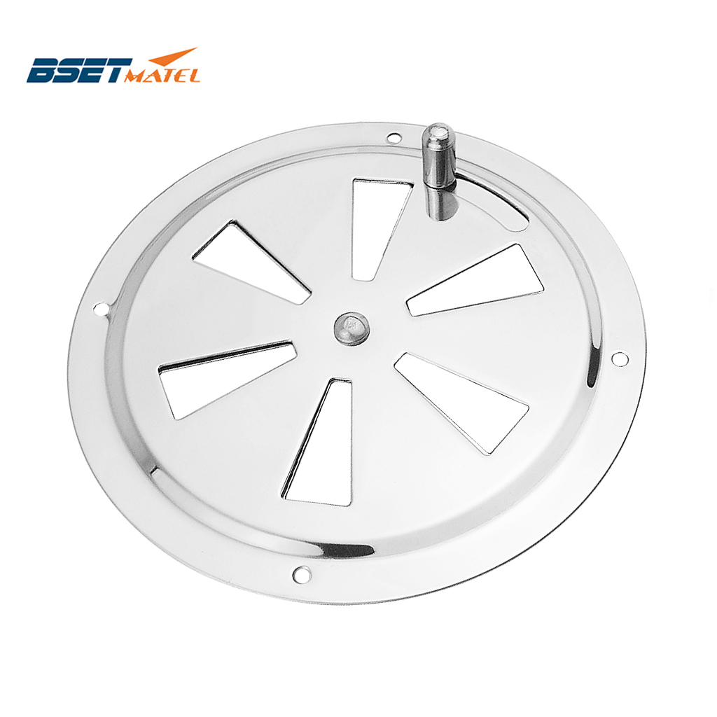 Stainless Steel 316 Boat Marine Round Air Louver Vent Grille Ventilation Louvered Ventilator Grill Cover Side Knob Opening