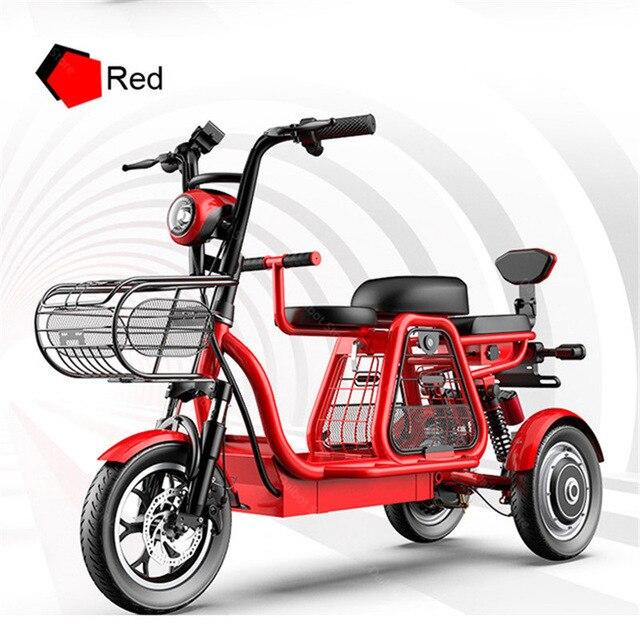 Взрослый Электрический трехколесный велосипед три колеса электрические скутеры 500 Вт 48 в 120 км мощный электрический скутер со съемной батар...