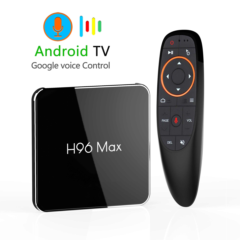 H96 MAX X2 Android 9.0 Smart TV Box Amlogic S905X2 4GB 64GB 5G Wifi H.265 4K USB3.0 Google Play Store Youtube lecteur multimédia