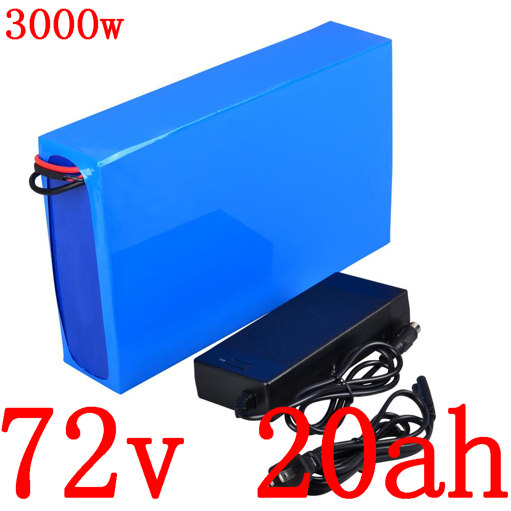 72V 20AH Lithium battery 72v 20ah 2000w Scooter Battery 72V 20AH electric bike battery with 30A BMS +84V charger