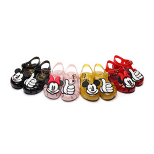 Disney Baby Girl Shoes Mini Melissa Jelly Shoes Toddler Shoes Mickey Minnie Girls Sandals PVC Non-slip Cartoons Sandalias Baby