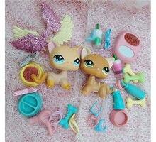 Animais dos desenhos animados acessórios arco asas 2 peça (gato não incluído) 10 pc figuras colecionáveis aleatórias presente para seus filhos encantadores