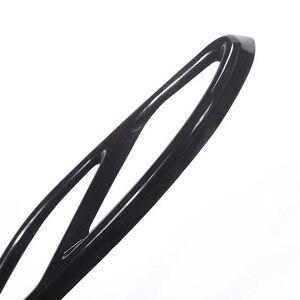 Image 4 - Mercedes Benz için 2 adet egzoz susturucu kapak Trim kalıplama siyah paslanmaz çelik destek GLC GLE GLS C E sınıfı