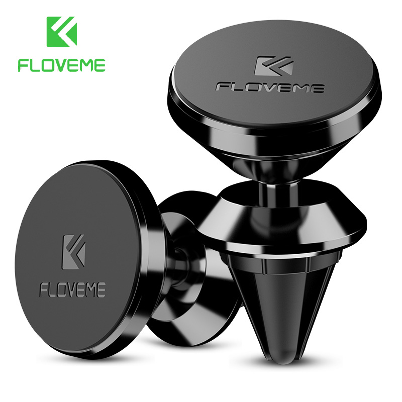 FLOVEME Magnetic Car Phone Holder For Samsung S8 S9 A5 J5 2017 360 Degree GPS Navigation Air Vent Mount Holder For Phone In Car