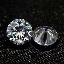 2 sztuk 3CT 9mm luźne diamenty kamień IJ kolor VVS1 Test pozytywny luźny moissanit nagie diamenty na pierścień wisiorki tanie tanio KALALA WHITE Excellent none 3 carat Moissanite Grzywny